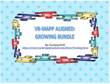 BUNDLE DEAL: 30% OFF VB-MAPP MATERIALS!!!In this download, you ...