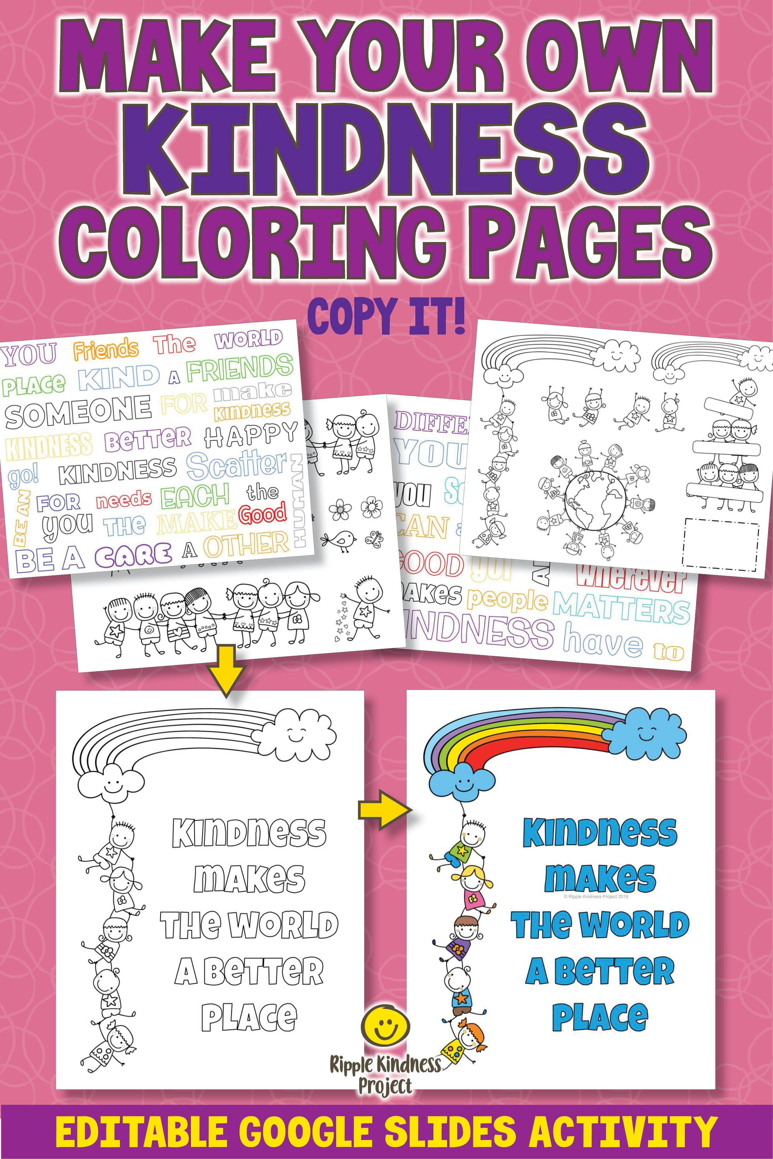 Make Your Own Kindness Coloring Pages