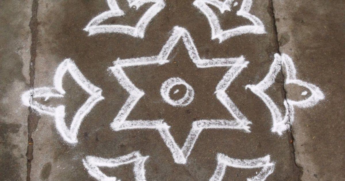 7 4 Pulli Kolam Interlaced Dots Kolam Easy Kolam Quick Kolam
