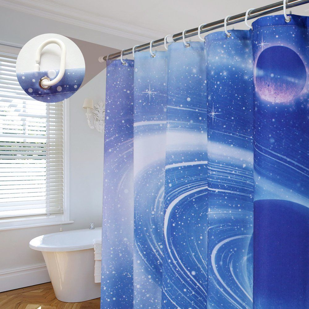Aoohome Fabric Shower Curtain Mildew Resistant Bathroom Curtain