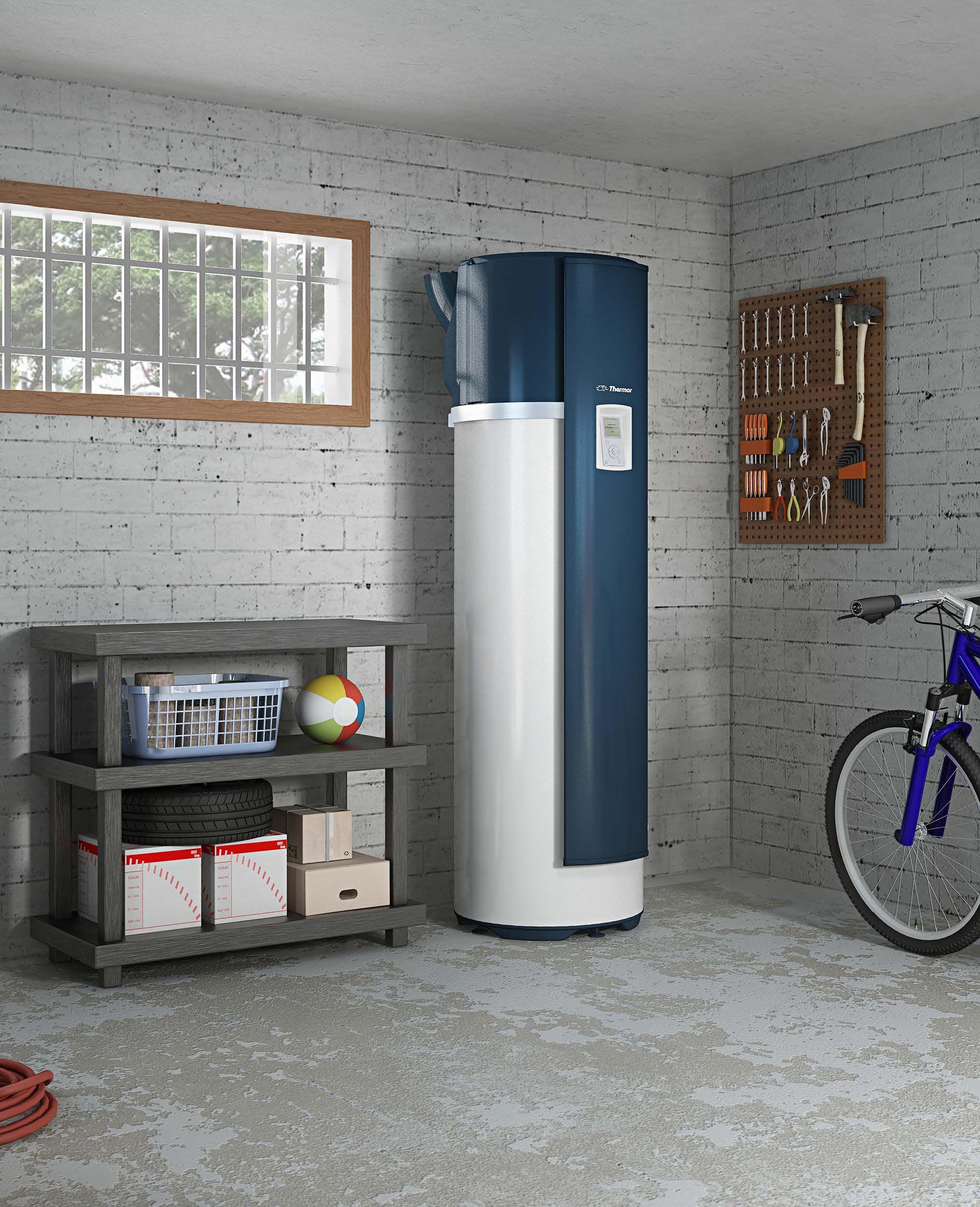 Chauffe-eau #thermodynamique, respectueux de l'environnement A�romax 4 sur air ambiant de Thermor. Pour les pi�ces non chauff�es.