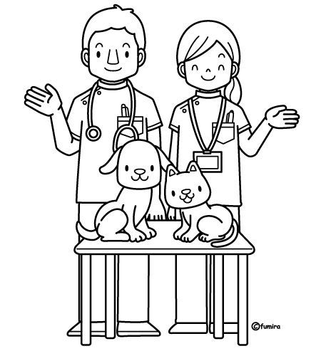 Veterinary Coloring Pages With Images Community Helpers