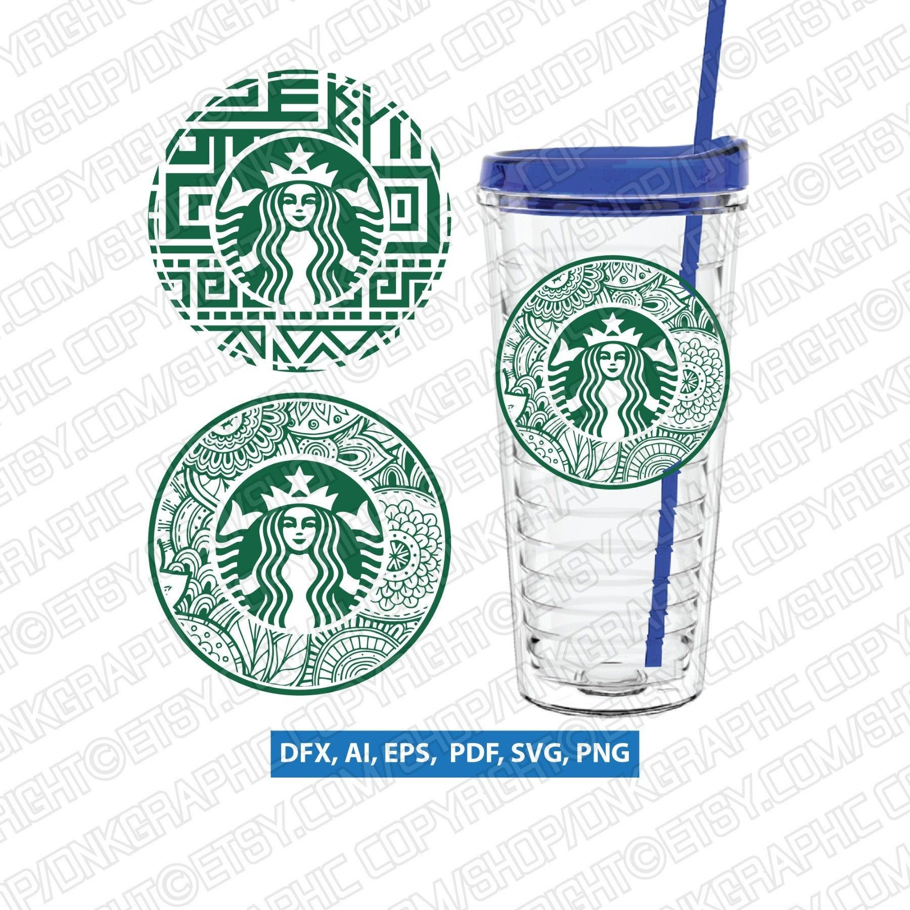 Aztec Abstract Floral Zentangle Mandala Starbucks Cup Starbucks Cup Svg Tumbler Mug Cold Cup Decal Silhouette Cameo Cricut In 2020 Abstract Floral Cup Decal Zentangle