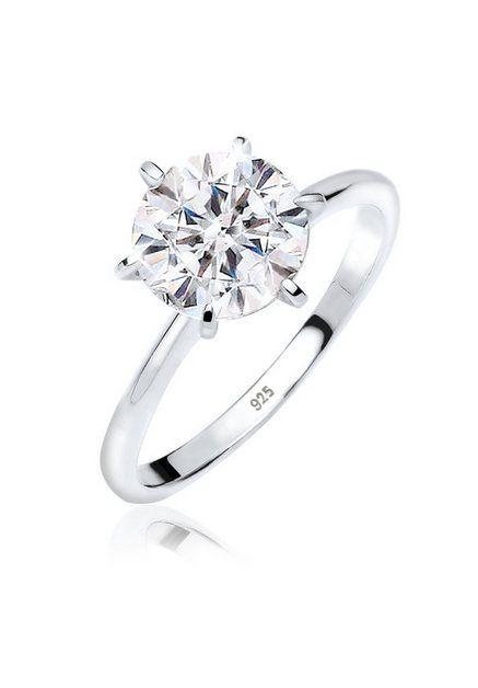 Damenring  Luxus Kristall Silber plattiert Zirkonia Hochzeits-Bänder.