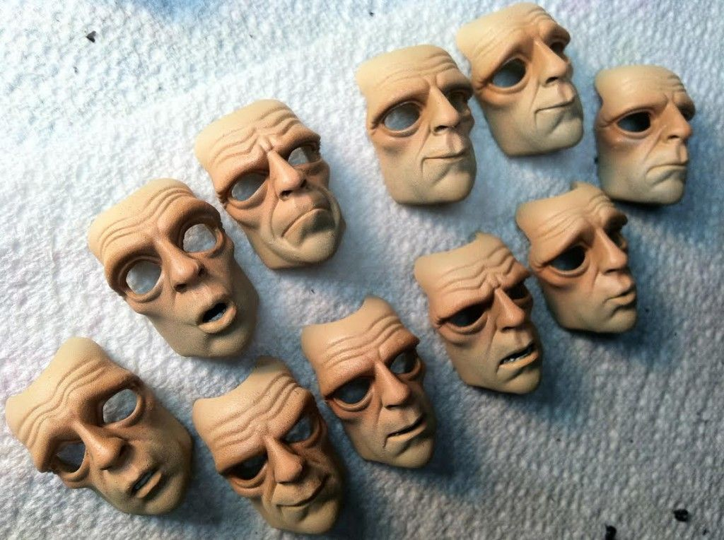 Incredible 3D Printed Faces For the Upcoming Stop Motion Film 'House of Monsters' http://3dprint.com/14774/house-monsters-3d-print-faces/