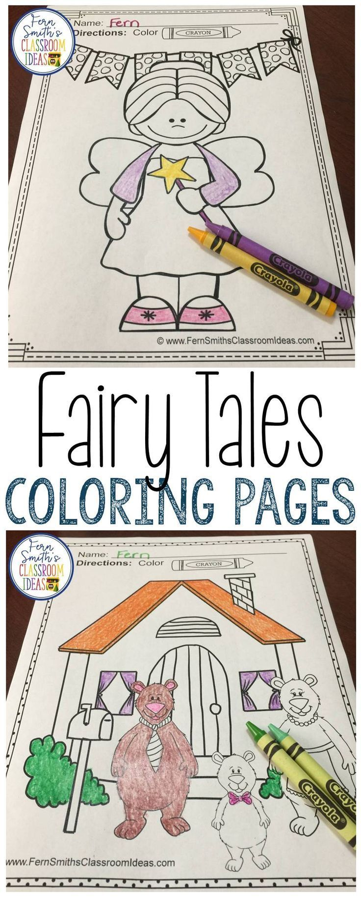 Fairy Tales Coloring Pages - 42 Pages of Fairy Tale Fun ...
