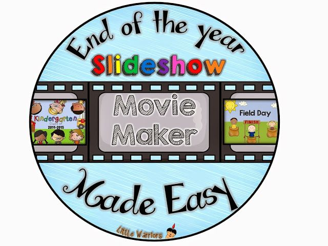 Hey guys!! It's Katie from Little Warriors! Do you make an End of the Year slideshow for your class?? I've been making one for about eight years now. I used to do a paper scrapbook for each kiddo, but