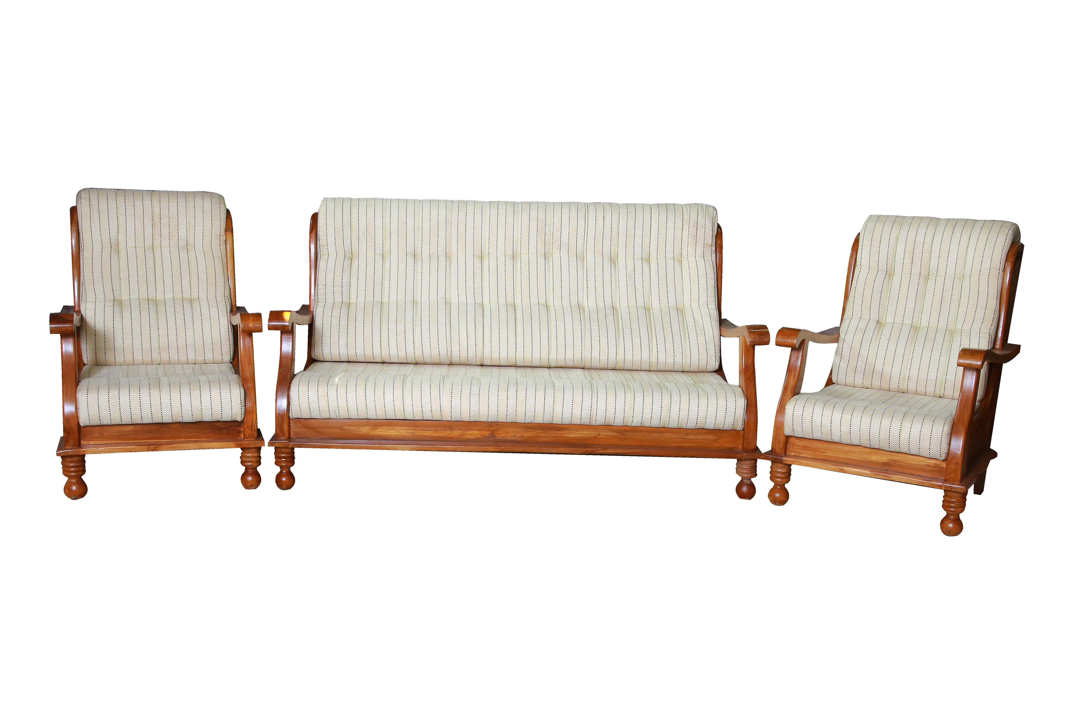Cairo Teak Wood Sofa Set 3 1 1 Seater Sofa Design Furniture Wood Sofa