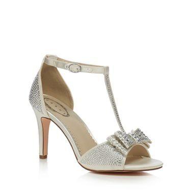 eab8a73c185 Debut Silver 'Dorothy' diamante T-bar high heeled sandals ...