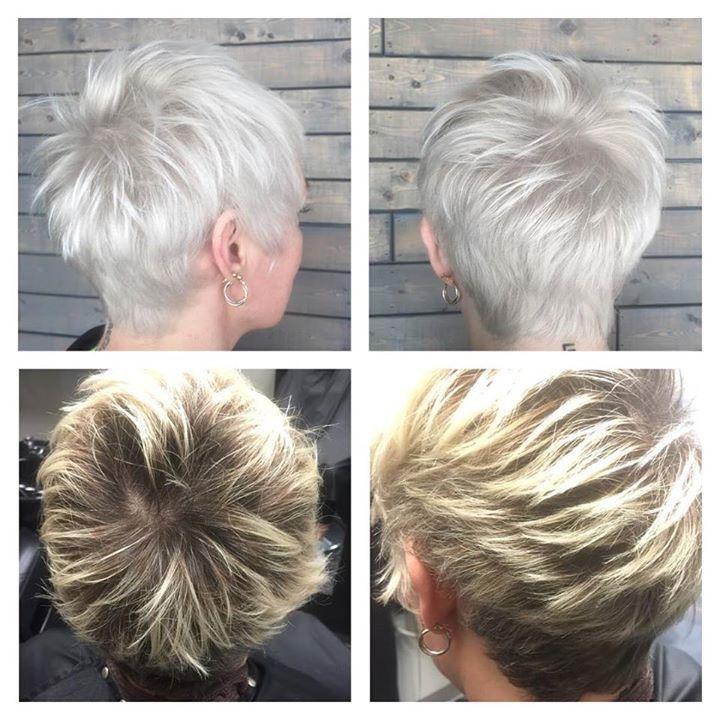 Platinum Blonde Pixie, Short Hair