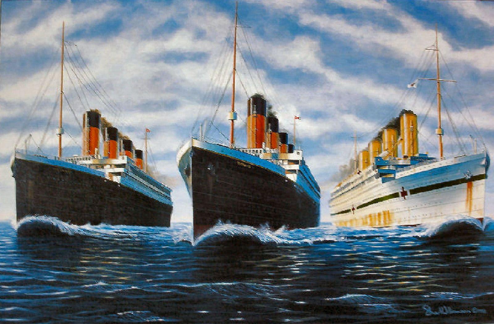 The Three Sister Ships Olympic Titanic Amp Britannic