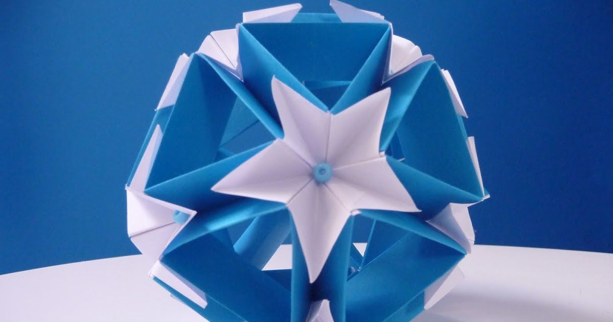 Origami Star Ball This Is Probably The Easiest Origami Ball To Make
