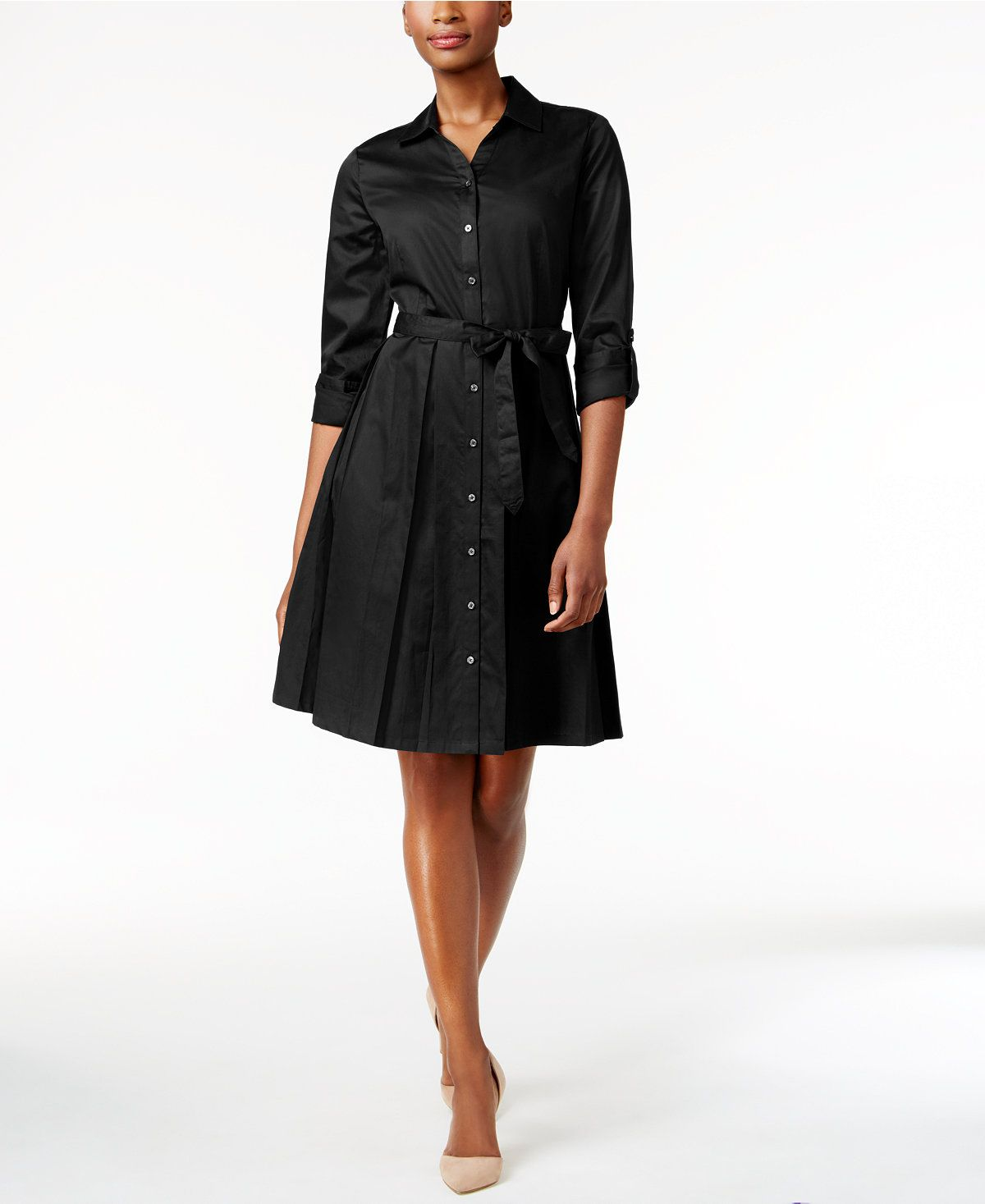 2bc61142321bc Charter Club Fit & Flare Shirt Dress, Only at Macy's - Charter Club - Women  - Macy's