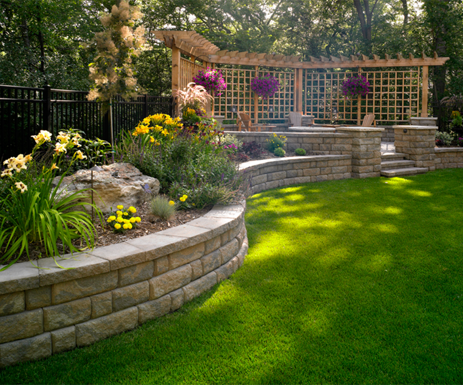 Front Yard Accent Stone Retaining Wall Around Tree: Give Your Yard Some Structure By Building A Basic