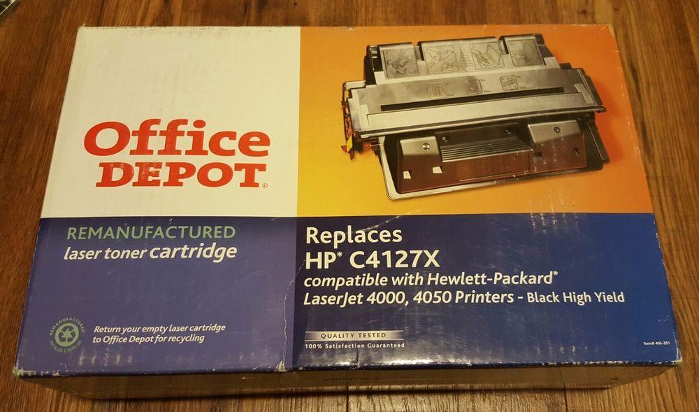 Office Depot Remanufactured Ink Toner For Hp C4127x Laserjet 4000