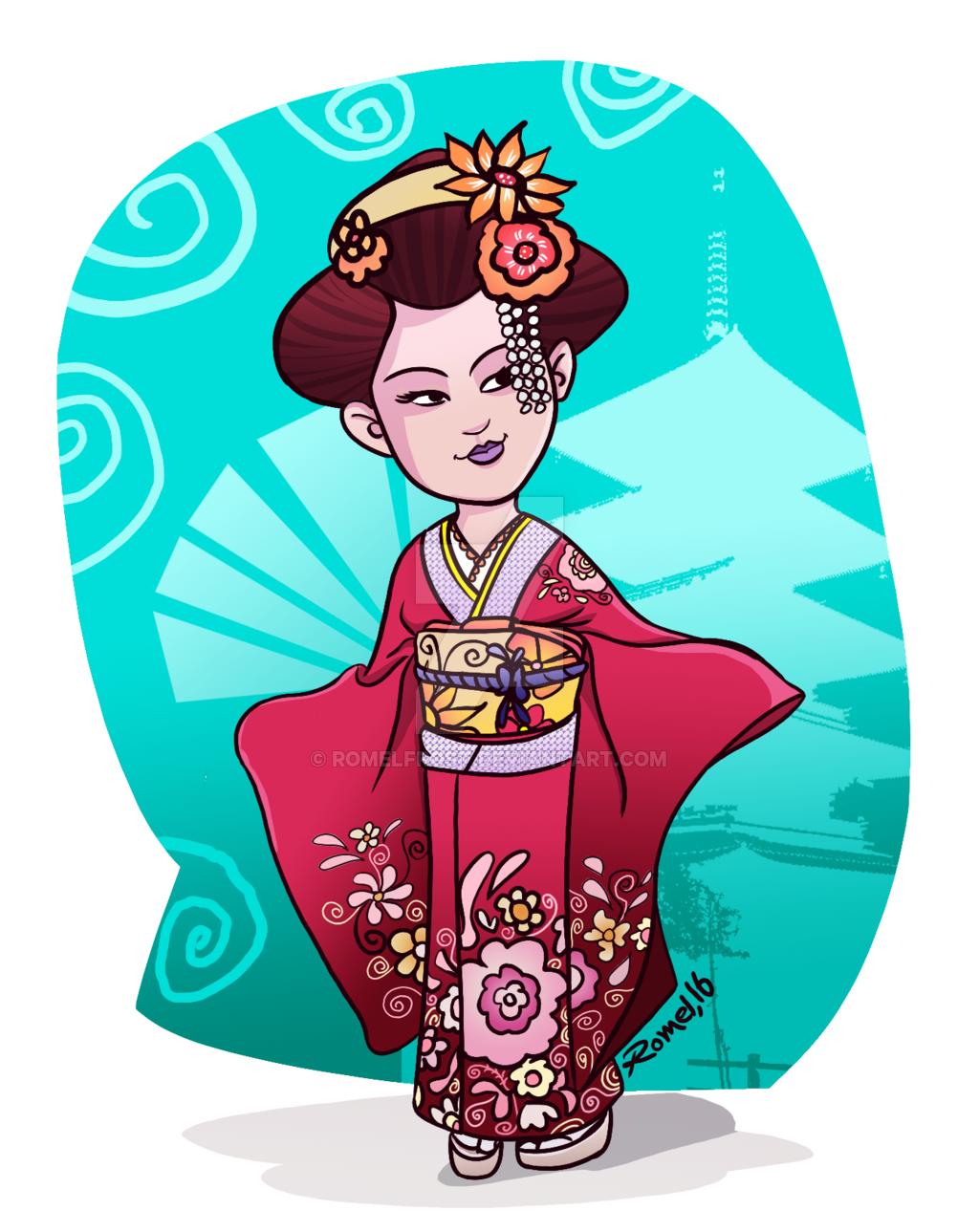 Kimono girl 62 by Nunnallyrey on DeviantArt