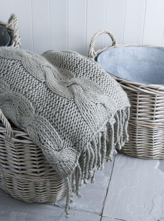 The Shalgree Knitted Throw looks more comfortable than a well-worn sweater; £148.