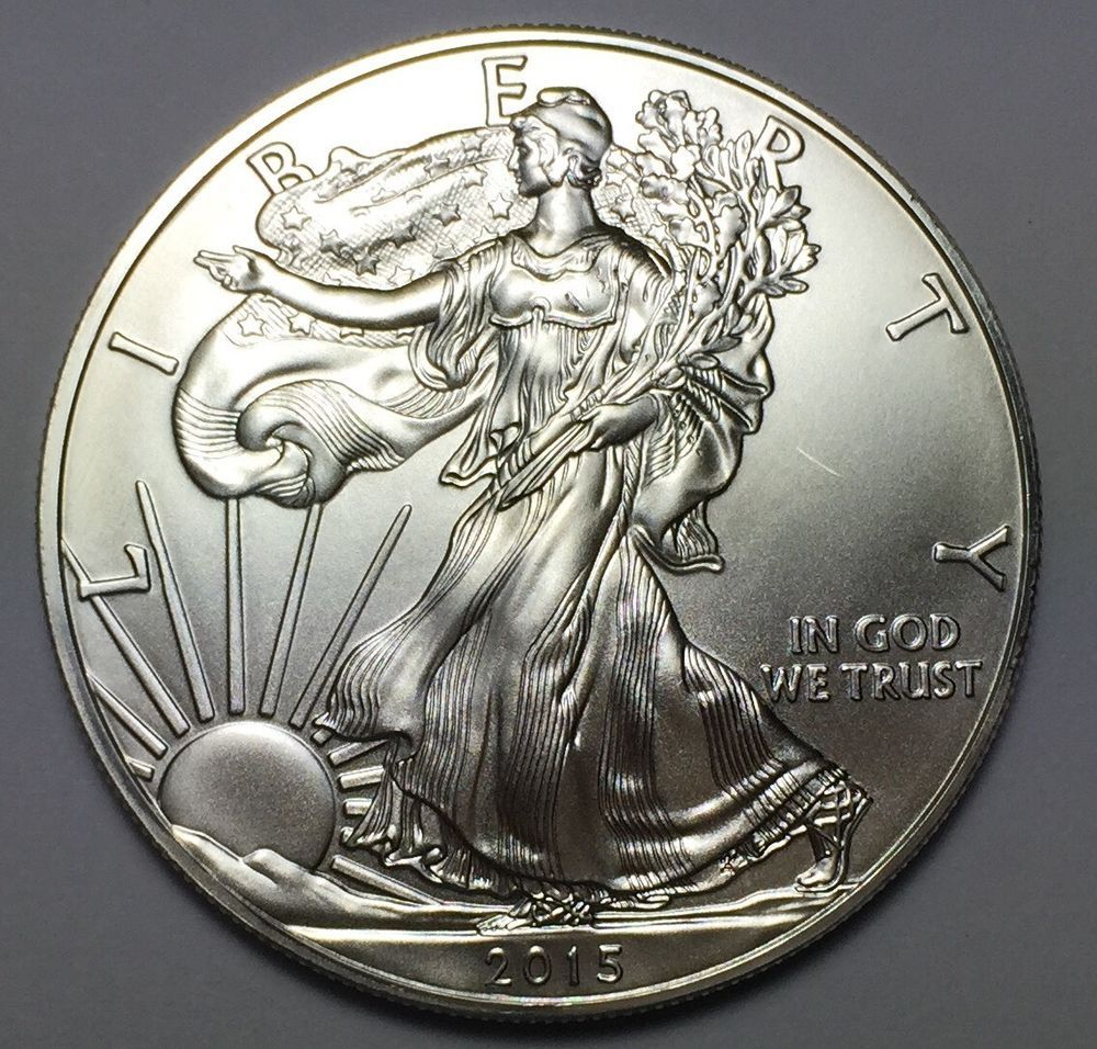 2015 Silver American Eagle 1 Oz 999 Fine One Dollar Bu