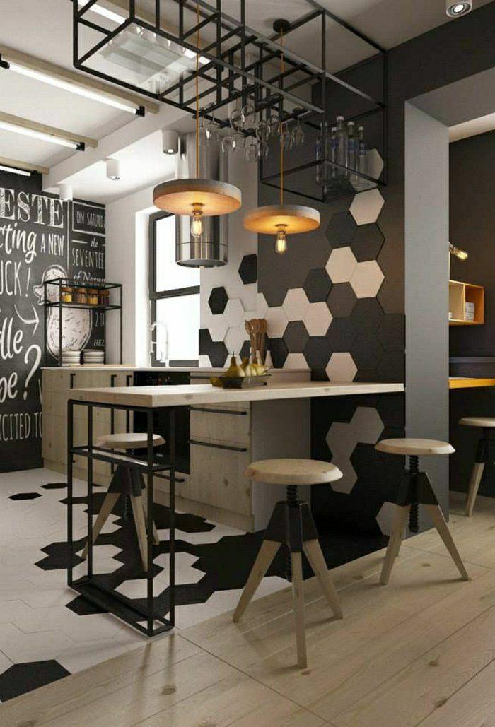 Le Carrelage Mural En 50 Variantes Pour Vos Murs! | Kitchens, Bar