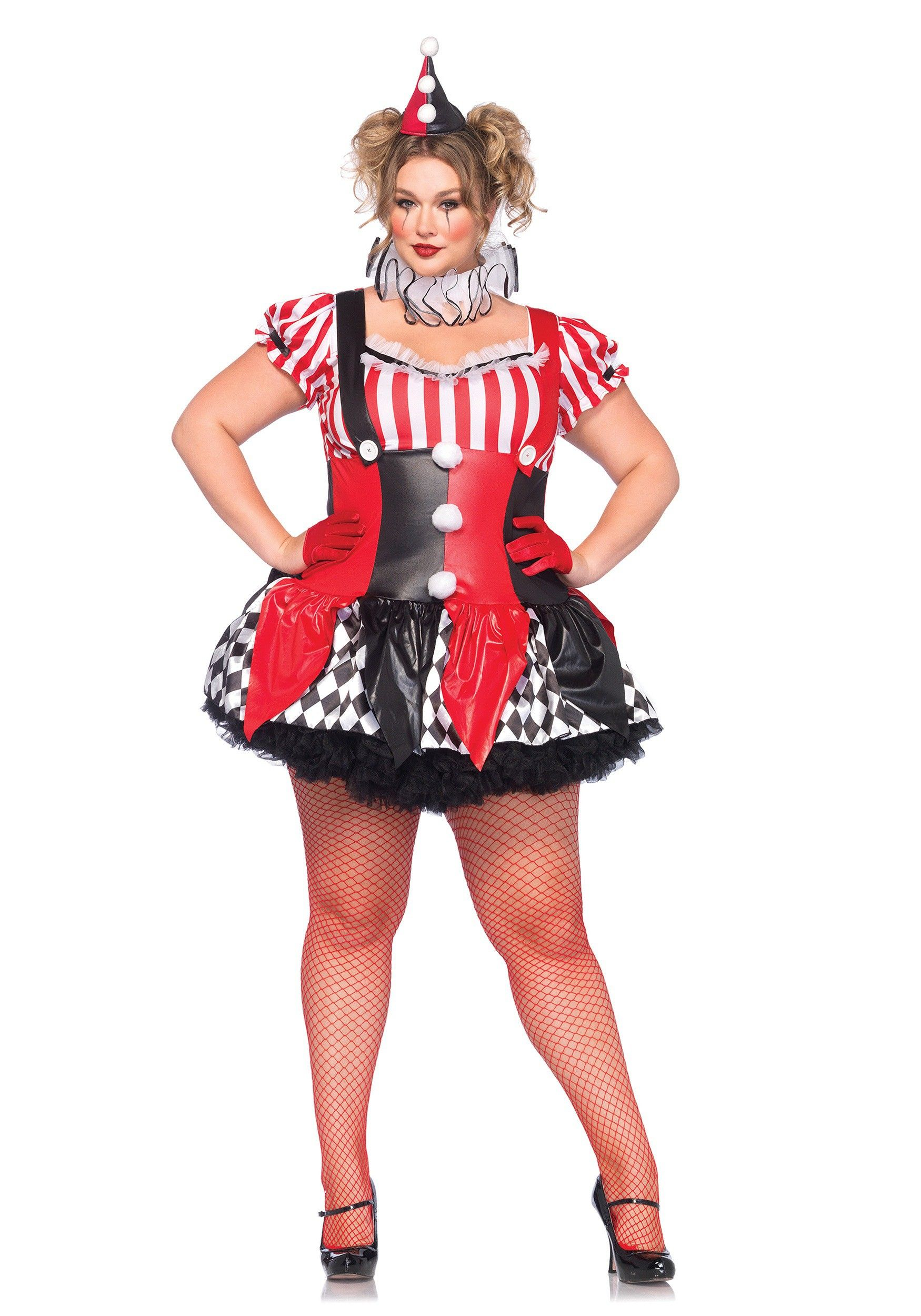Plus Size Harlequin Clown Costume  sc 1 st  Pinterest & Plus Size Harlequin Clown Costume | Plus-size Fashion - Halloween ...