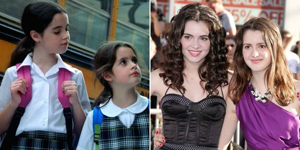 Laura and Vanessa Marano then and now