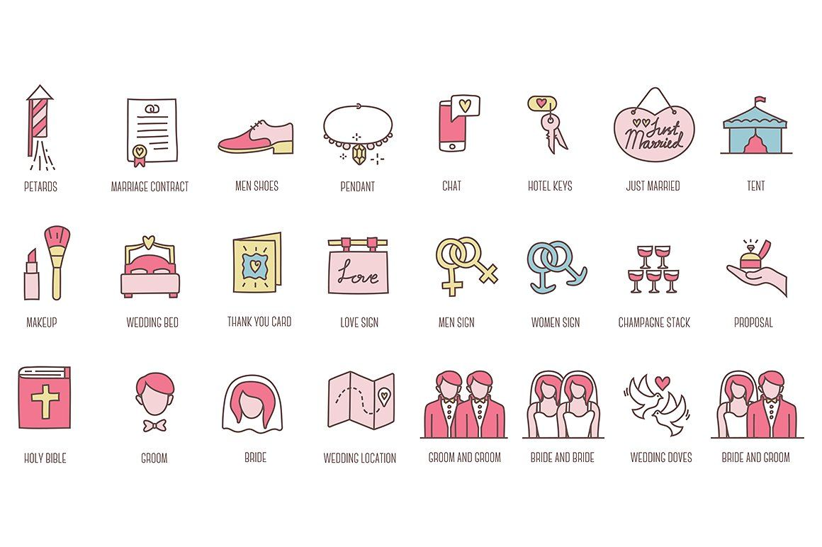 88 Wedding Icons icon, flaticon, icons, icon pack, icon pack