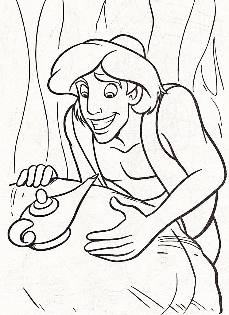 Free Printable Aladdin Coloring Pages For Kids | Adult coloring ...