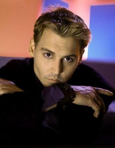 Johnny Depp, not real sure about the blonde but the eyes.  Mmmmm hmmmmm.