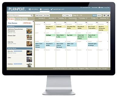 monthly menu planner app