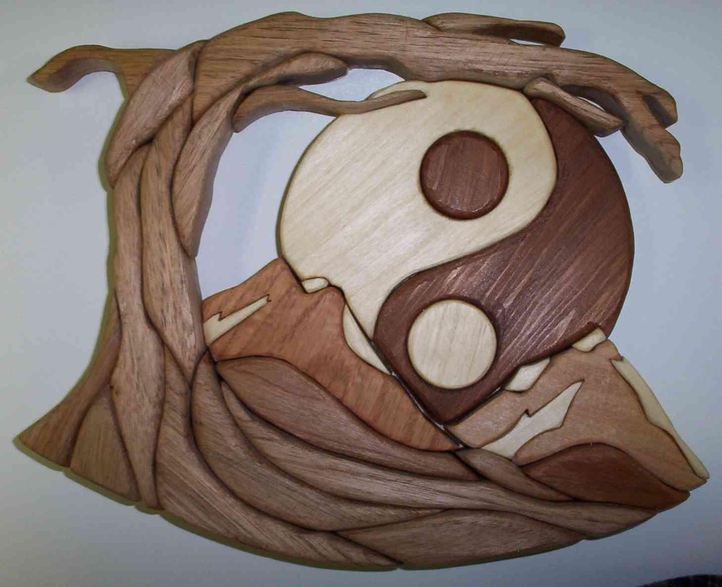 Intarsia Yin and Yang Intarsia Pinterest Intarsia wood