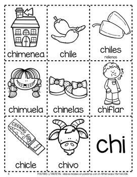 Posters Y Tarjetas De Silabas Iniciales En Palabras Con Ch Spanish Reading Intervention Activities Spanish Alphabet Activities Spanish Handouts