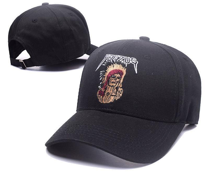 36722e5c Men's / Women's Kanye West Yeezus Tour Merch Indian Chief Skeleton  Adjustable Baseball Dad Hat - Black