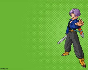 Trunks powerpoint template from dragon ball z ppt over green anime toneelgroepblik Image collections