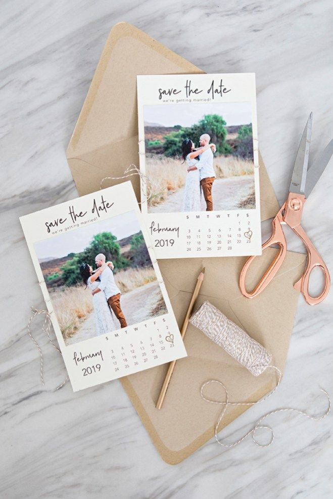 Free Printable Calendar Style Photo Save The Date Invitations Printable Wedding Invitations Wedding Invitation Cards Wedding Invitations Diy