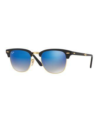 59338fa30ff4f Ray Bans · Flash · Foldable+Clubmaster®+Flash+Sunglasses