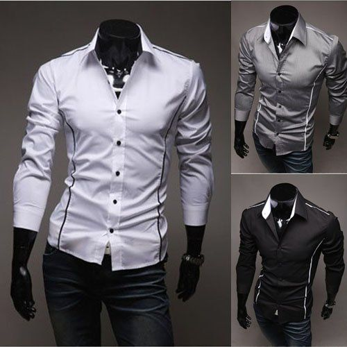 Mens White Shirts Men Fashion Clothing Mens Handsome Shirt ...