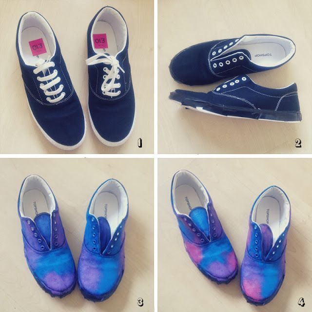 diy - galaxy print shoes | CALVIROSE