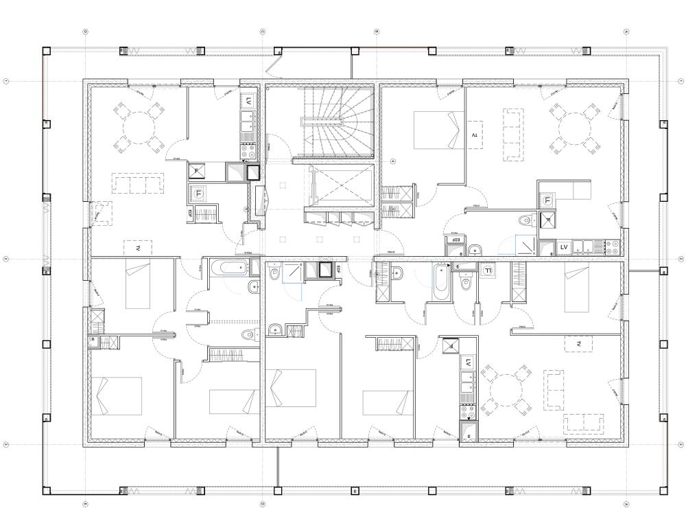 Gallery Of 30 Social Housing Units In Nantes Antonini Darmon Architectes 36 Social Housing Craftsman Floor Plans Architectural House Plans