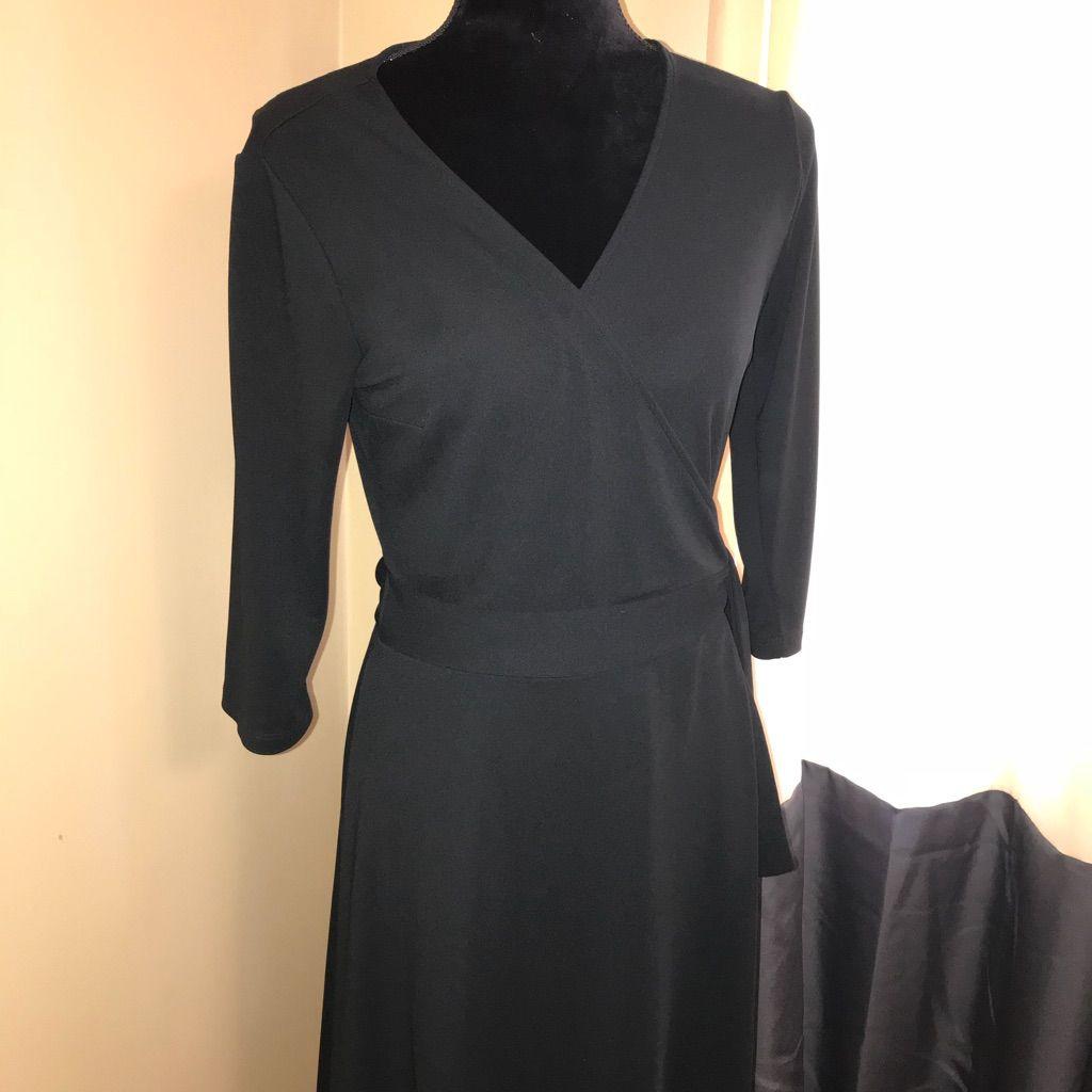 Black wrap dress sz medium products