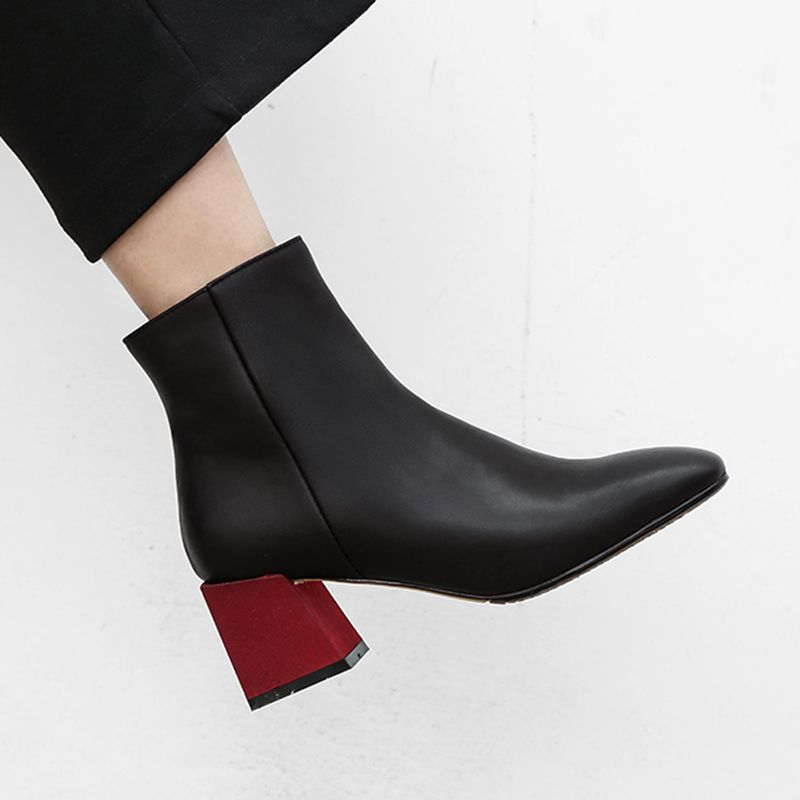 e32a14fe428 Chiko Chaylea Color Block Heel Ankle Boots feature square toe