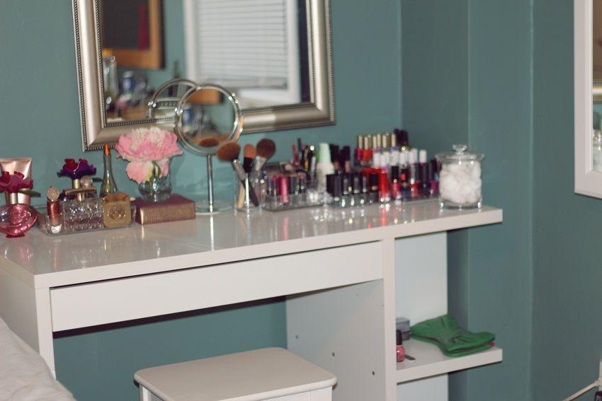 Beauty Ramblings: The Perfect Vanity | Micke desk, Vanities and Desks