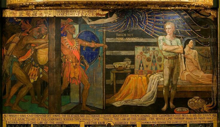 Quot The Latchstring Mural Quot Berthalee Broyles Visitors To The