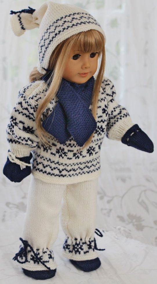 Knitting Patterns For 18 American Girl Dolls Crafts Dolls