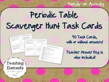 Periodic table task cards atomic number science stations and introduce students to the periodic table using these task cards there are 40 cards total urtaz Gallery