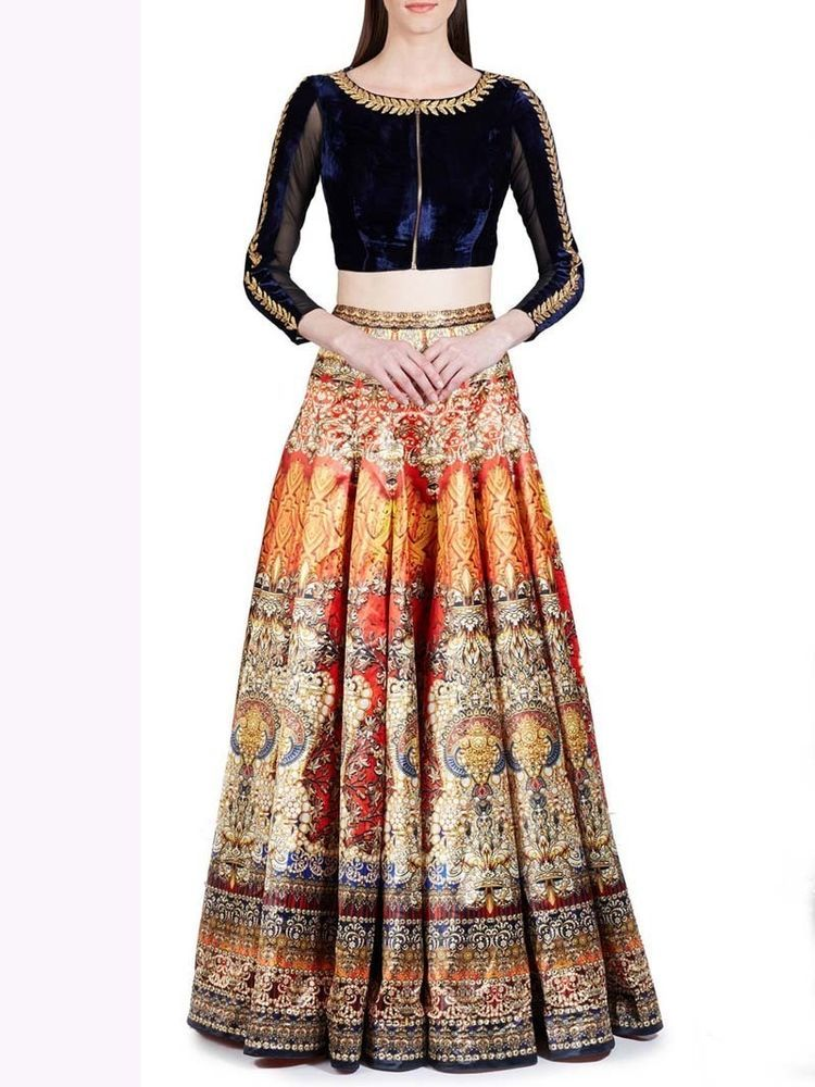 71bc14ddb3 Latest Indian Designer Pakistani Digital Printed Lehenga Choli dupatta  Freeship…