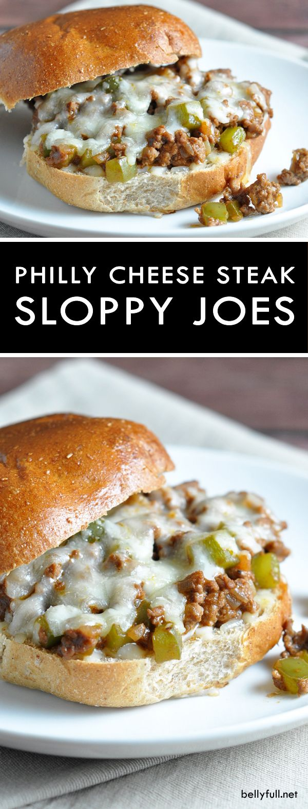 Philly Cheese Steak Sloppy Joes #easydinners