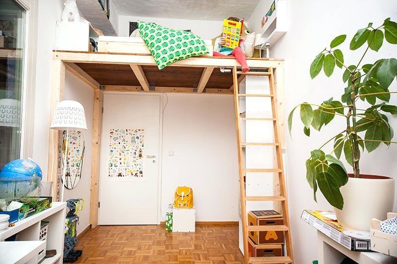 hochbett selber bauen altbau anleitung höffner wohnideen Pinterest - hochbetten erwachsene kleine wohnung
