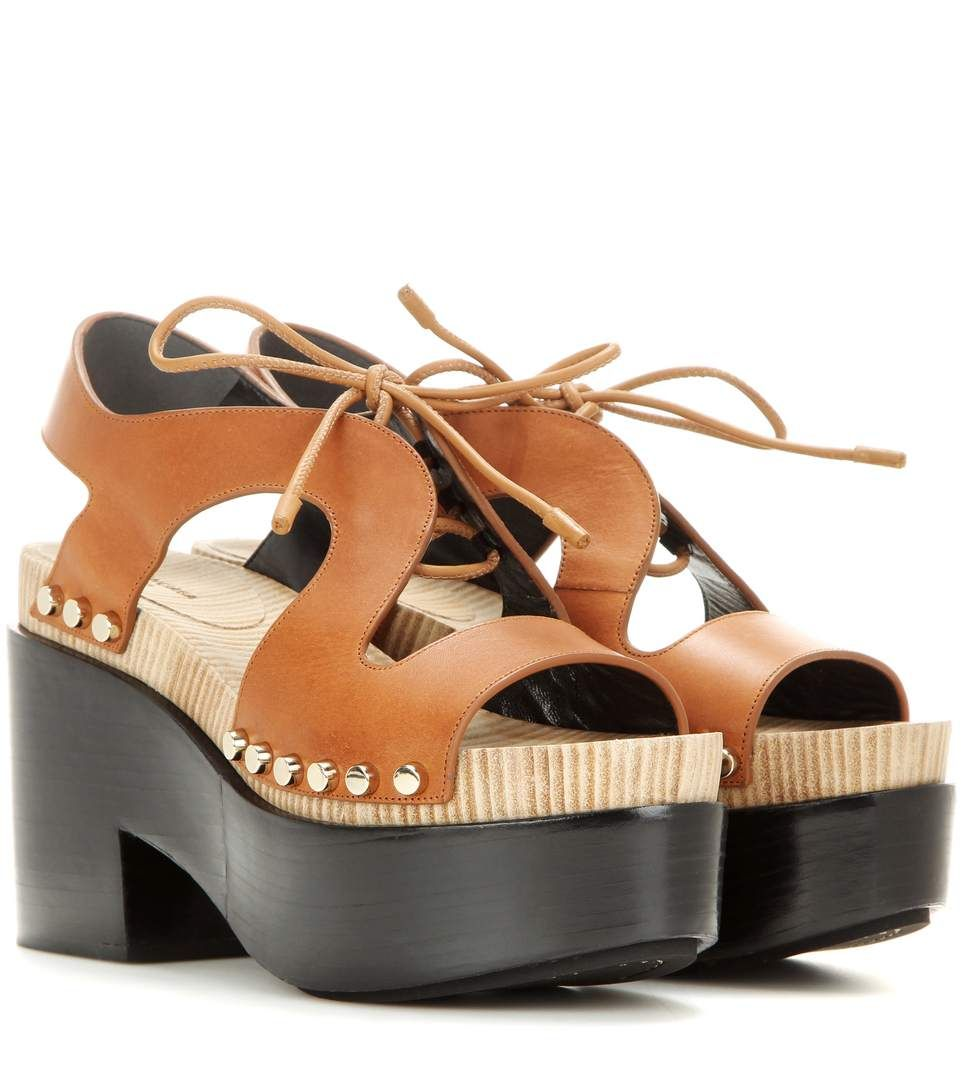 Balenciaga Leather Platform Wedges buy cheap really websites for sale best place for sale pn7IF