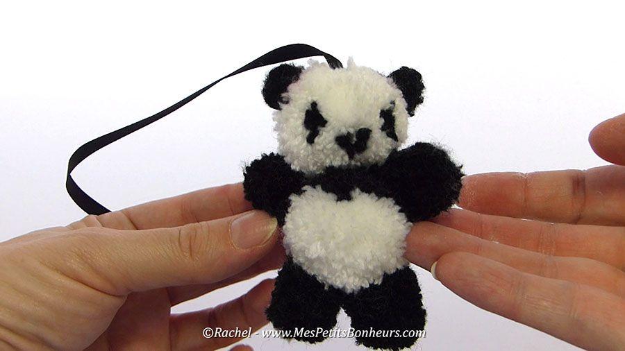 DIY Pom Pom Panda - Video tutorial (in french) by Rachel …   Pinteres…