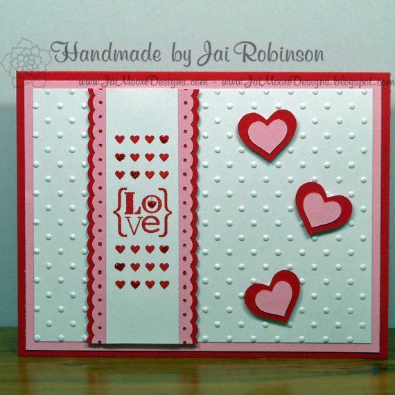 {LoVe} Valentine Greeting Card - Handmade - One of a Kind ...